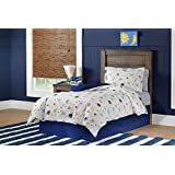 Lullaby Bedding QCO-SPACE 4 Piece Space Collection Cotton Printed Comforter Set Queen
