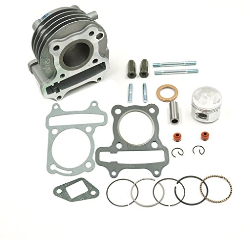 Glixal ATMT1-005 High Performance GY6 50cc to 60cc 44mm Big Bore Cylinder Kit with Piston for 139QMB 139QMA Scooter Moped ATV