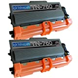 2 Replacement Toner Cartridges For Brother TN750 TN-750 Toner Cartridge Replacement For Brother TN-750