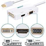 Bosjett® Primium Golden-plated Mini Displayport DP Thunderbolt Male To DVI VGA HDMI Female TV AV Video HDTV Adapter...