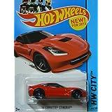 Hot Wheels Corvette 60th 2013 Hw City Red 14 Corvette Stingray 205/250
