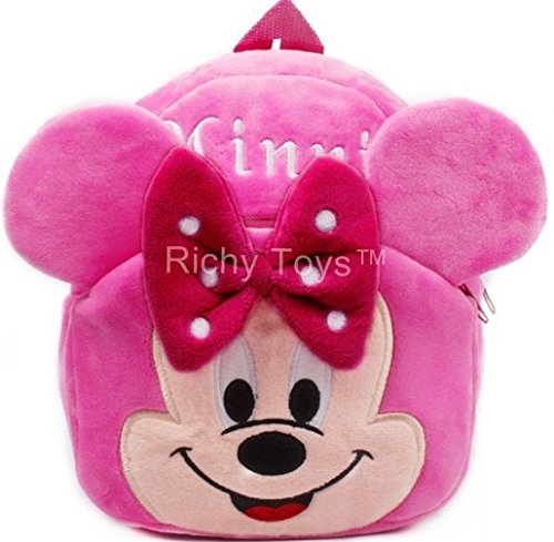 Richy Toys Minnie Cute Kids Plush Backpack Cartoon Toy Children's Gifts Boy/Girl/Baby/Student Bags Decor School...