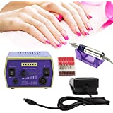 Coastacloud 110V Electric Nail Drill Manicure Pedicure File File Buffer Machine With Bits For Gel Acrylic & Natural...