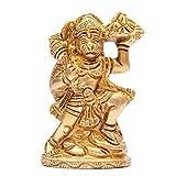 Indian Arts Shop Hanuman Brass (2.29 Cm X 4.57 Cm X 7.62 Cm, Golden)