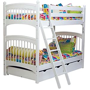 linon home decor bunk bed bundle 88 bunk bed finish white 12987