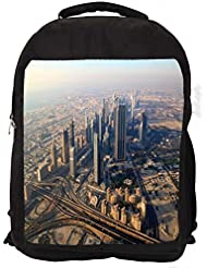 """Snoogg City From Top Casual Laptop Backpak Fits All 15 - 15.6"""" Inch Laptops"""