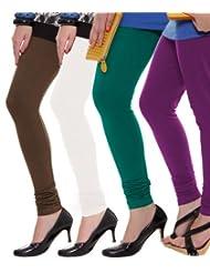 Style Acquainted People Women's Cotton Leggings (Pack Of 4) - B015J87YRO