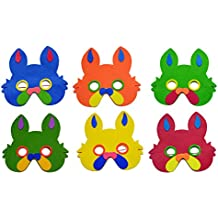 Laxmi Collection (Pack Of 10) Foam Made Mask, Return Gift For Kids Birthday Party (For More Gift Search For Laxmi...