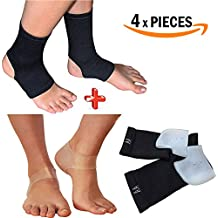 Armstrong Amerika Plantar Fasciitis Sleeve Compression Sock For Sore Foot Pain Relief & Silcon Heel Gel Pads Help...