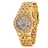 Breitling Star Liner 18k Rose Gold Factory Diamond Quartz Womens Watch