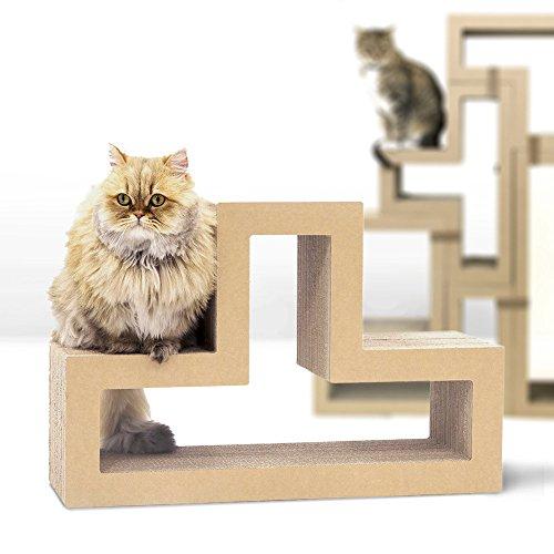 KATRIS T-Shape Modular Cat Scratcher Block | Multi-Functional Durable | Cat