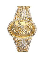 Eclat Brass Gold Plated Bracelet For Women New Fashion Jewelry (1212090G)