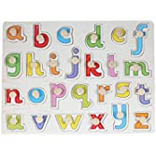 Baybee Wooden Alphabet Puzzle With Knobs (Small Letters)