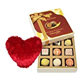 Valentine Chocholik's Luxury Chocolates - Affectionate White Chocolates With Heart Pillow
