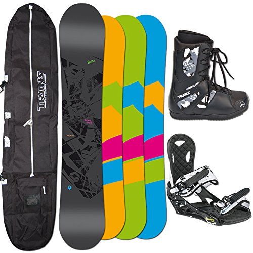 FTWO Snowboard SET BLACKDECK 157cm WIDE + Eco Bindung blk/white + Boots + Bag