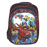 Wise Guys Big Hero 6 Embossed 3D Print School Bag For Kids - Blue & Red
