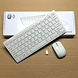 Banggood 2016 Original Mini 03 2. 4G Wireless Keyboard And Optical Mouse Combo 1600DPI White For Desktop Hot