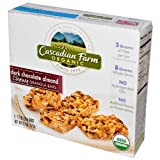 Cascadian Farms Dark Chocolate Almond Granola Bar, 1.2-ounce Bars, 5 Bars Per Box, Pack Of 3 Boxes (Total 15 Bars)