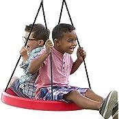 (Red) Tire Swing, Super Spinner FUN N SAFE, Tree Swing, Child Swing, Best Swing On The Planet! Easy