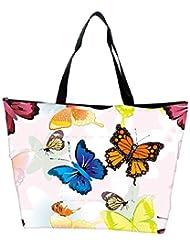 Snoogg Abstract Butterflies Pattern Design Designer Waterproof Bag Made Of High Strength Nylon