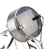 AGPtek Solar Power Wind Chime Moving Rotating LED Light Hanging Lamp