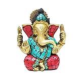 Indian Arts Shop Ganesha Brass (4.57 Cm X 5.59 Cm X 11.43 Cm, )