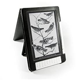 Tuff-Luv Leather case cover for Amazon Kindle DX Flip Style (9.7' inch) 1st Gen (Black)