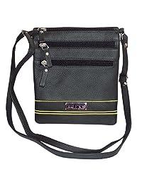 Leather Women's Crossbody Sling Bag (Black) - B01DHYOZVA
