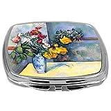 Rikki Knight Paul Cezzane Art Design Compact Mirror, Still Life Of Flowers In A Vase, 3 Ounce