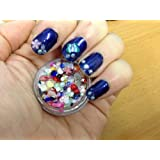 3 Gram Jar Flat Back Rhinestones AB Half Round Pearls Bows Stars Hearts Flowers Sliced Fruits Nail Art Decoration