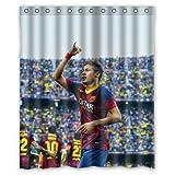 HomeMo Nemar Barcelona Soccer Sports Face Custom Shower Curtain 66