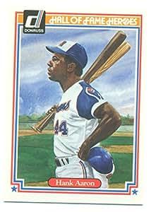 1983 Donruss Hall of Fame Heroes Hank Aaron #34 - Baseball