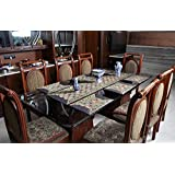 Dining Table Runner With Dinner Table Place Mats