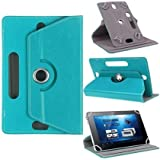"""Hello Zone Exclusive 360° Rotating 7"""" Inch Flip Case Cover Book Cover For Asus Fonepad 7 2014 FE170CG -Sky Blue"""