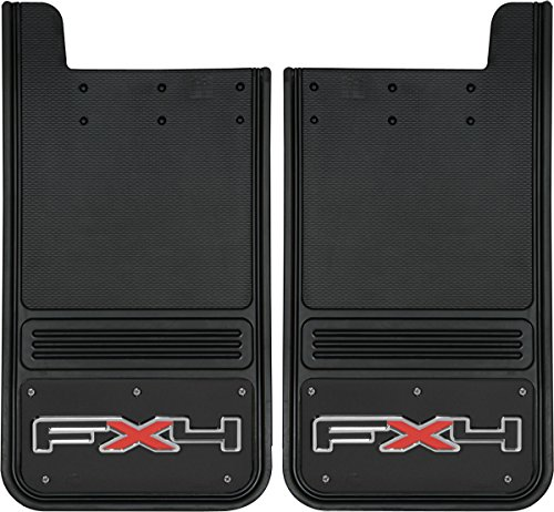 Gatorback Ford FX4 Truck Mud Flaps – Rear Pair – Black Wrap