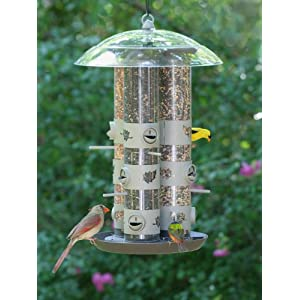 Birdscapes 2-in-1 Triple Tube Feeder