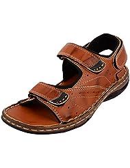 Rick Rock Men's Tan Synthetic Sandals - B015Q5987E