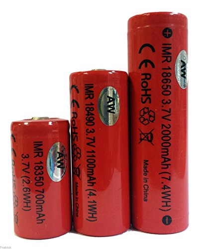 100% Genuine AW IMR 18350 or 18650 3.7V Rechargeable Battery