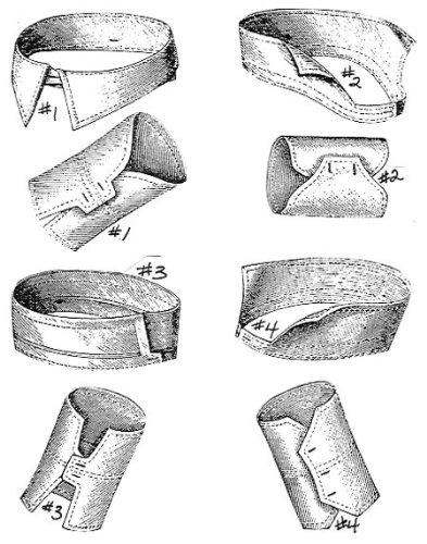 Men's Vintage Reproduction Sewing Patterns 1877 4 Mens Collar & Cuffs Pattern $4.75 AT vintagedancer.com