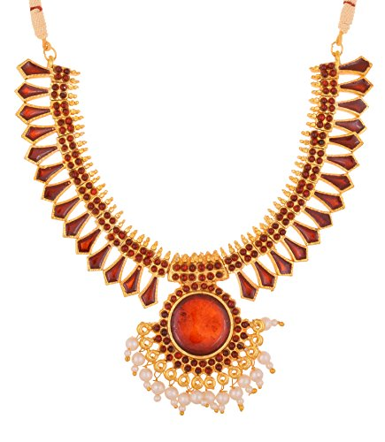 Preethi Red Gold Plated Strand Necklace For Women (Preethi_71)