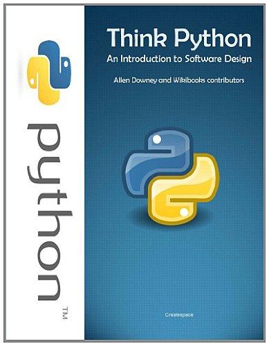think_python অজগর(PYThon)এর সাথে প্রোগ্রামিং।(Part 11)(Book Collection)