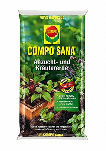 Compo 1062302004 Sana Anzucht und Kräutererde, 10 L