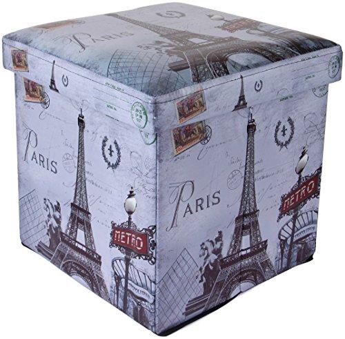 Uberlyfe Foldable Ottoman storage box cum stool