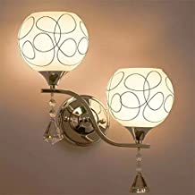Alcoa Prime New Fashion Unique LED Wall Lamp Modern Double Heads Meter Crystal Wall Light Brightness For Living...
