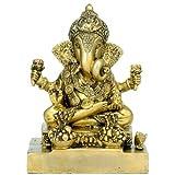 """Redbag 'Lord Ganesha' -Brass Sculpture ( 7.50""""H X 5.50""""W X 3.75""""D )"""