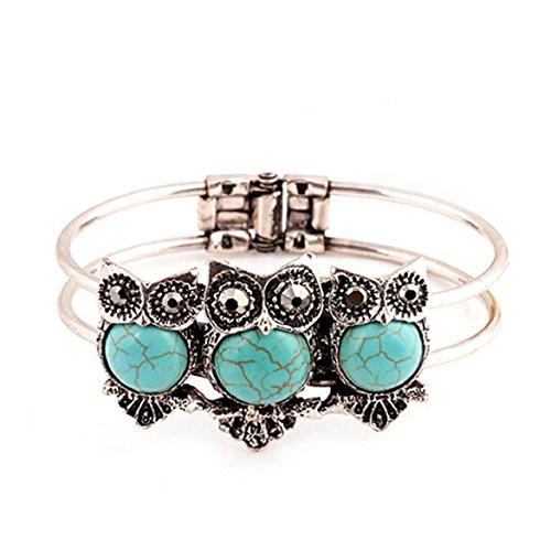 Susenstone®Bohemian Style Retro Cute Owl Plating Lady Bracelet