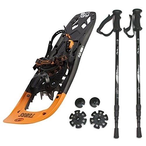 Kombi-Paket: Schneeschuhe FLEX ALP XL für Herren von Tubbs + Leichter, 3-teiliger Teleskopstock Hiker