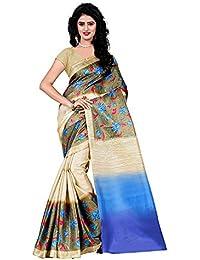 Roshni Fashions Silk Cotton Saree (Art Silk_Brown)