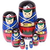 Flada Best Gift Wooden Nesting Dolls Russian Matryoshka Kids Toys Christmas Decorations A Set Of 8 Pieces