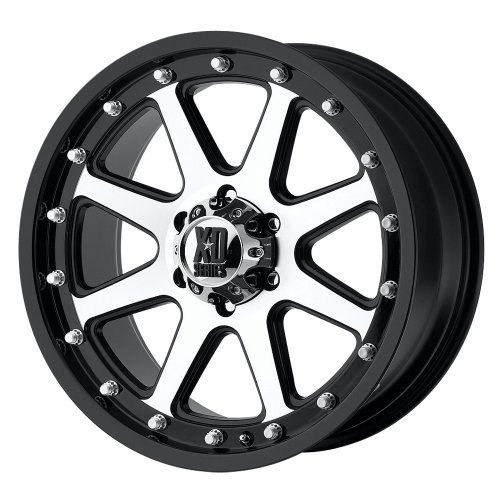 XD Series by KMC Wheels XD798 Addict Matte Black Wheel With Machined Accents (17×9″/6×114.3mm, +18mm offset)